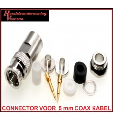 BNC CONNECTOR VOOR 5 mm COAX KABEL