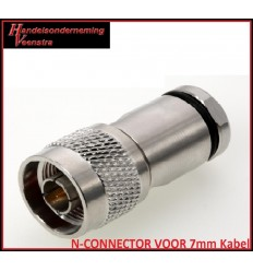 N-CONNECTOR VOOR 7mm Kabel