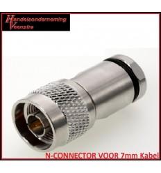 N-CONNECTOR VOOR 7mm Kabel
