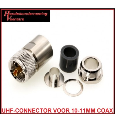 UHF-CONNECTOR VOOR 10-11MM KABEL