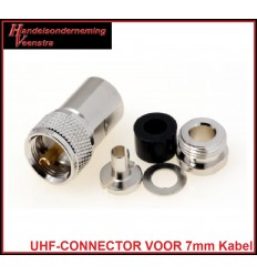 UHF-MAN VOOR 7 mm KABEL