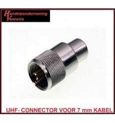 UHF CONNECTOR VOOR 7 mm KABEL