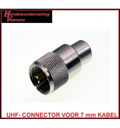 UHF CONNECTOR VOOR 7 mm KABEL