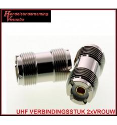 UHF VERBINDINGSSTUK 2xVROUW