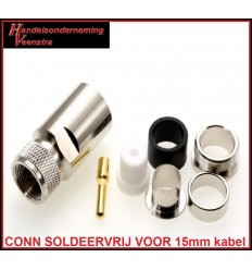 UHF CONNECTOR VOOR 15mm KABEL (SOLDEERVRIJ)