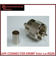 UHF-CONNECTOR KRIMP VOOR RG58