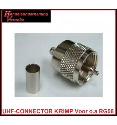 UHF-CONNECTOR KRIMP VOOR RG58