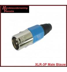 XLR-3P Male Blauw