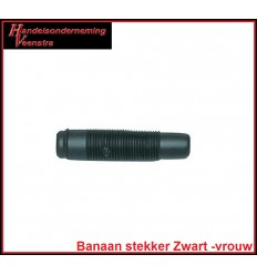 Banana plug Black -female-