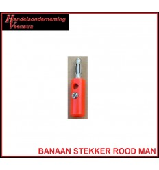 Banana plug Red -male-