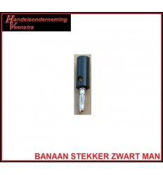 Banana plug Black -male-