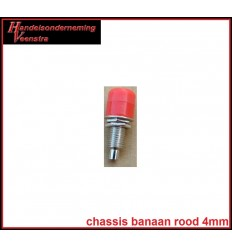 Chassis Banaan Red 4mm