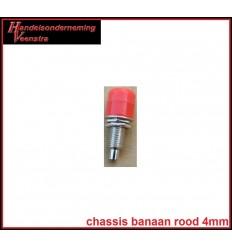 Chassis Banaan Rood 4mm