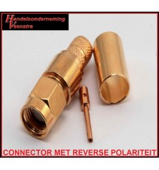 SMA Connector met rev Polariteit voor coaxkabel H 155