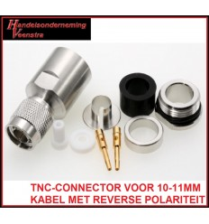 TNC-CONNECTOR FOR 10-11MM CABLE WITCH REVERSE POLARITY