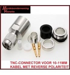 TNC-CONNECTOR VOOR 10-11MM KABEL MET REVERSE POLARITEIT