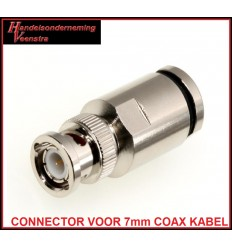 BNC 7 CONNECTOR FOR 7mm COAX CABLE