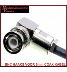 BNC CONNECTOR HAAKS VOOR 5mm COAX KABEL