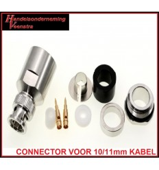 BNC-CONNECTOR FOR 10/11mm COAX CABLE