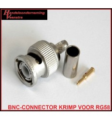 BNC-CONNECTOR KRIMP VOOR RG58
