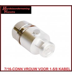 7-16-CONNECTOR FEMALE FOR 1-5-8 CABLE