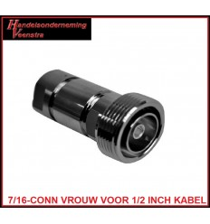 7-16-CONNECTOR FEMALE FOR 1-2 INCH CABLE