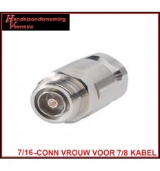7-16-CONNECTOR FEMALE FOR 7-8 CABLE