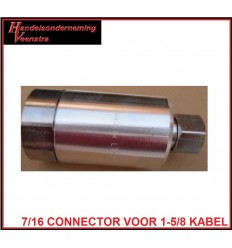 7/16 connector voor 1.5/8 kabel