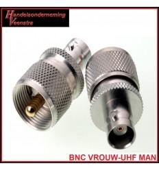 UHF MALE-BNC FEMALE