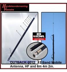 12 Band MobiEle Antenne, HF en 6m 4m 2m.