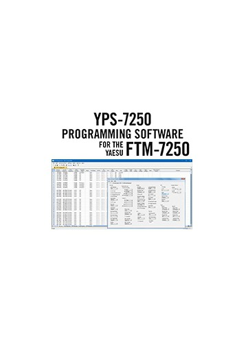 YPS-7250 Programming Software Only for the Yaesu FTM-7250: Windows or MAC OS