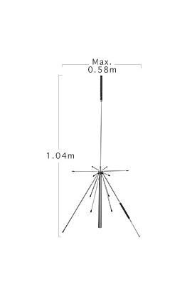 Super Discone Antenna D150