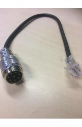 HV-YAESU- Rond-8-Pins Male/YAESU- RJ45