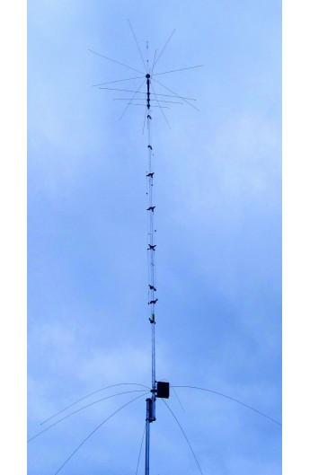 Hy-Gain AV-680 9 Band Verticaal, 6/10/12/15/17/20/30/40/80m